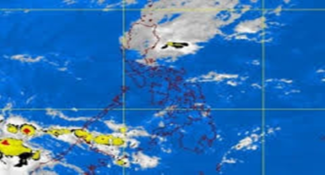 Amihan season satellite image