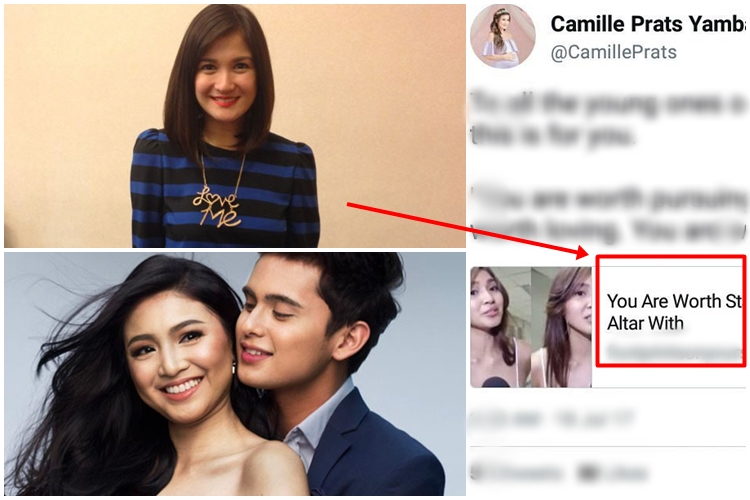 Camille Prats Criticized by JaDine Fans Over an Old Post