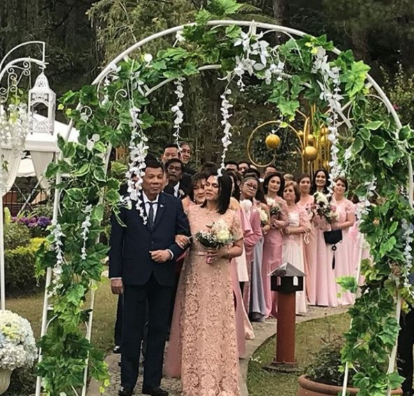 Wedding Principal Sponsors Gown: Former Actress Michelle Ortega Marries Police General Greg