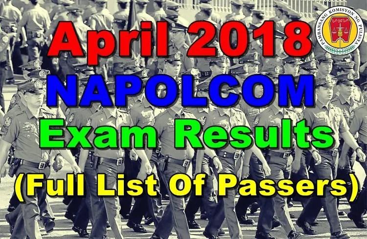 April 2018 NAPOLCOM Exam