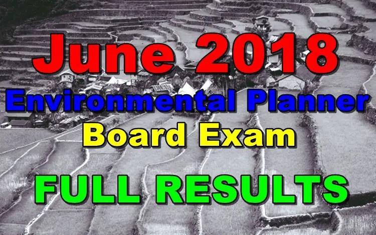 June 2018 Environmental Planner Board Exam