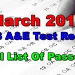 March 2018 ALS A&E Test Result
