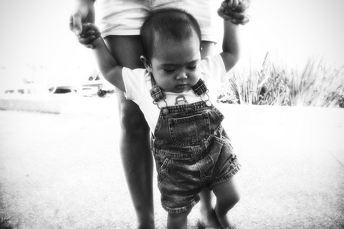 It helps to have a mentor when learning to walk.