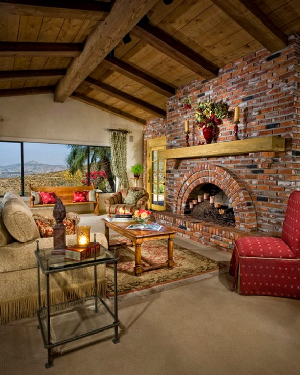 Country-Living-Room-Ideas-with-Brick-Wall-
