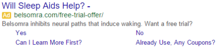 Will Sleep Aids Help? Google Search Ad