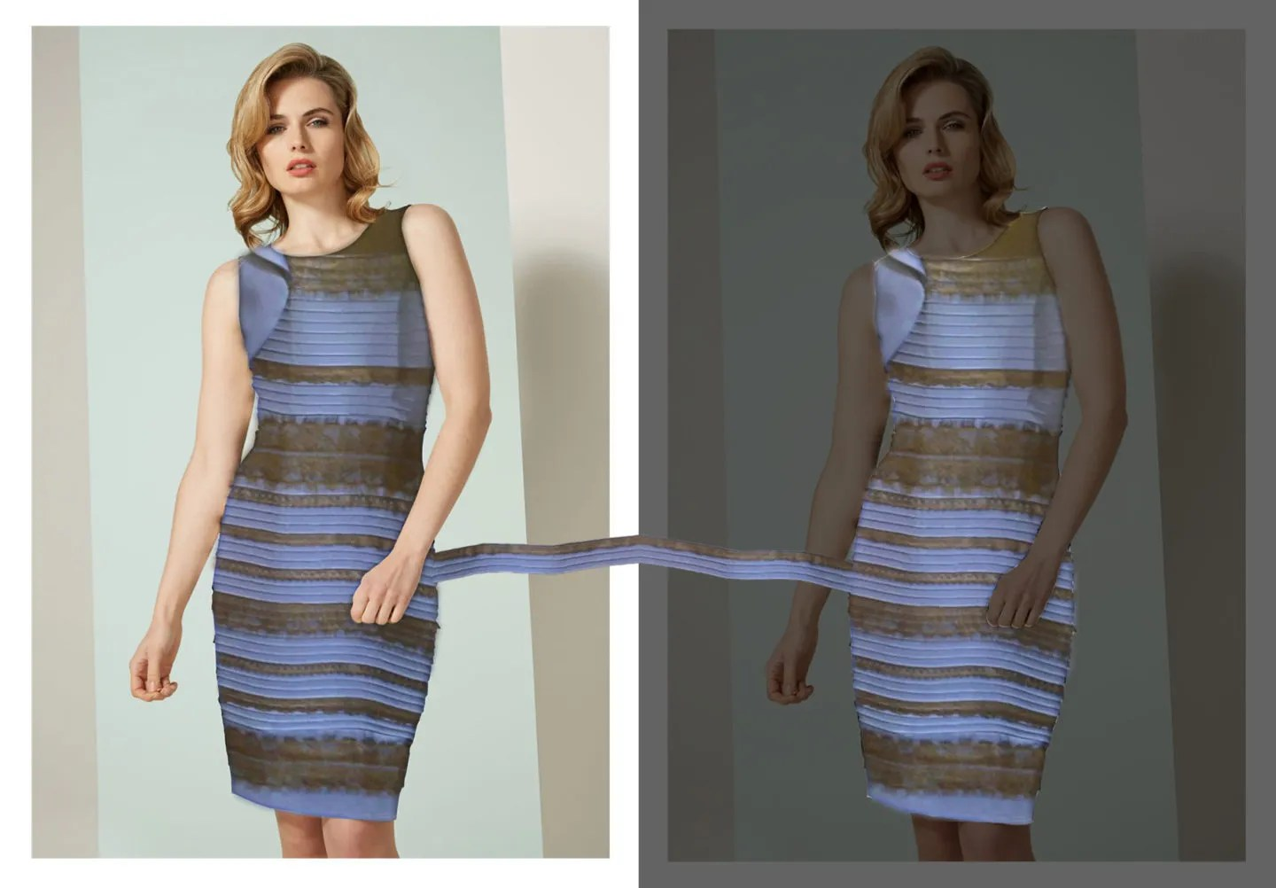 How does a black and blue dress sometimes appear white and gold ...