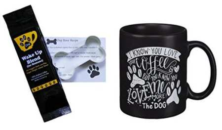 Paw Prints Mug, Coffee, and Cookie Cutter Gift Set