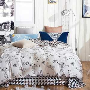 TheFit Cotton Girl and Dog Duvet Cover