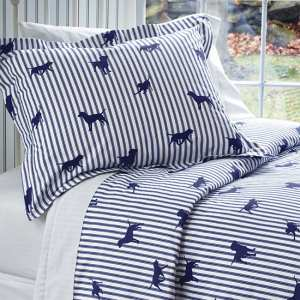 The Orvis Labs and Stripes Cotton Duvet Cover