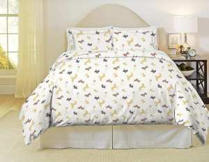 Pointehaven Flannel Dog Duvet Cover