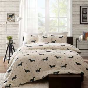 The Hannah Cotton Dachshund Duvet Cover