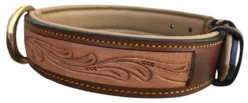 Tooled Leather Collar