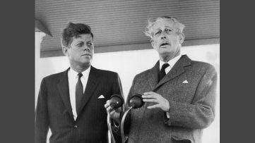 Harold Macmillan with JFK