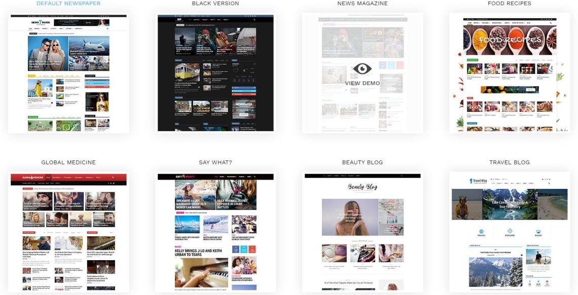 choosing the best wordpress theme - layouts