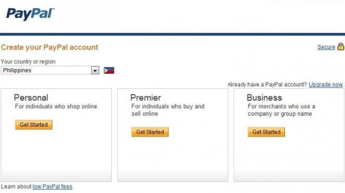 paypal account philippines