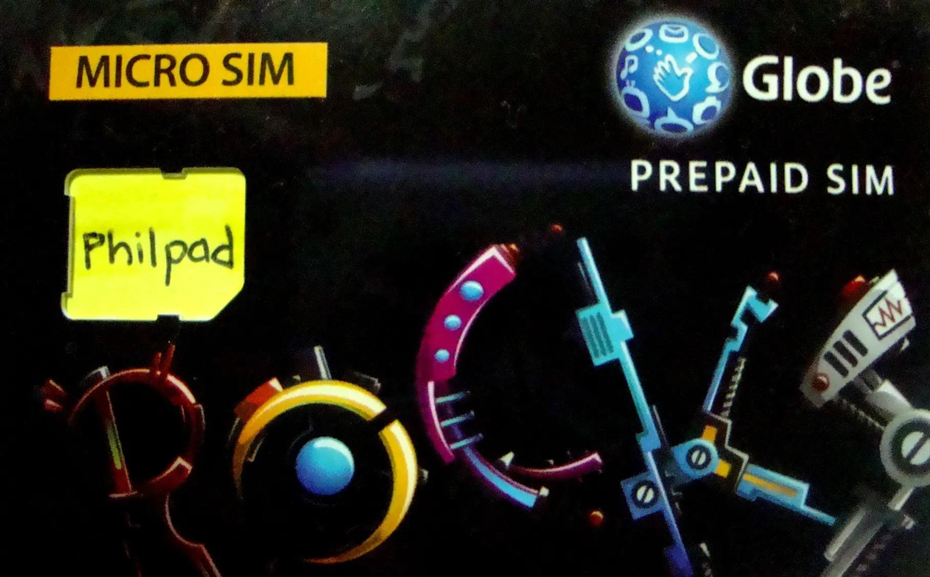 set up globe micro sim prepaid for iphone