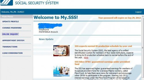 how to print sss emplyee static info