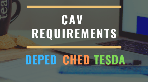 cav requirements deped ched tesda certification authentication verification