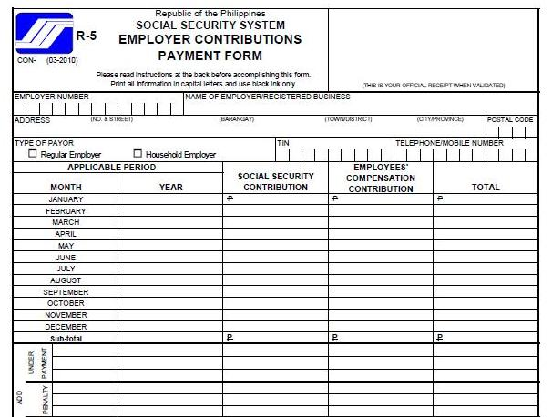 How To Pay And Post Sss Employees Contributions Monthly And Quarterly