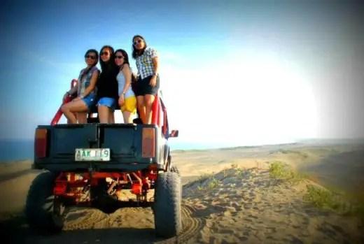 sand dunes paoay 4x4 adventure