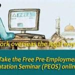 POEA Free Pre-Employment Orientation Seminar Online (PEOS)