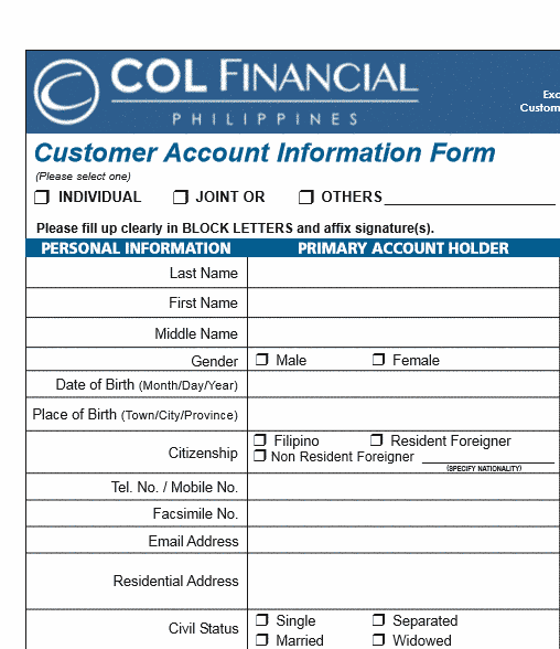 how to open col financial account online