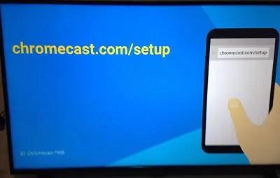 chromecast set up tv