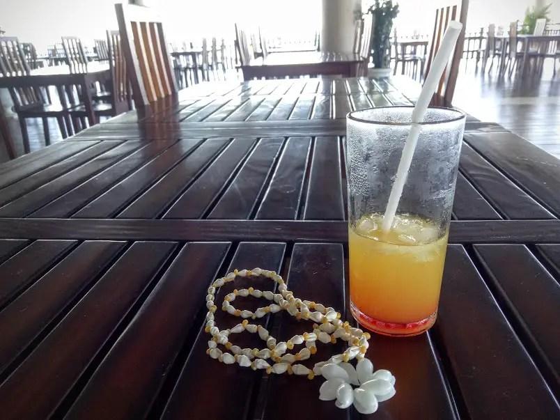 nalusuan island welcome drinks