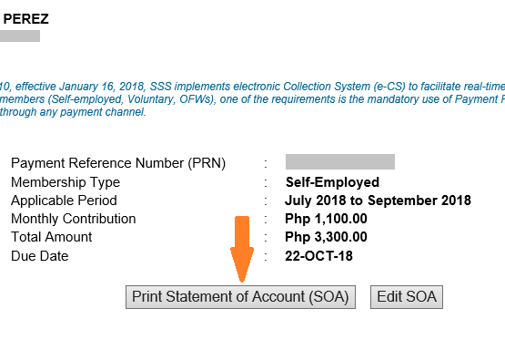 how to pay sss contributions using prn generated form