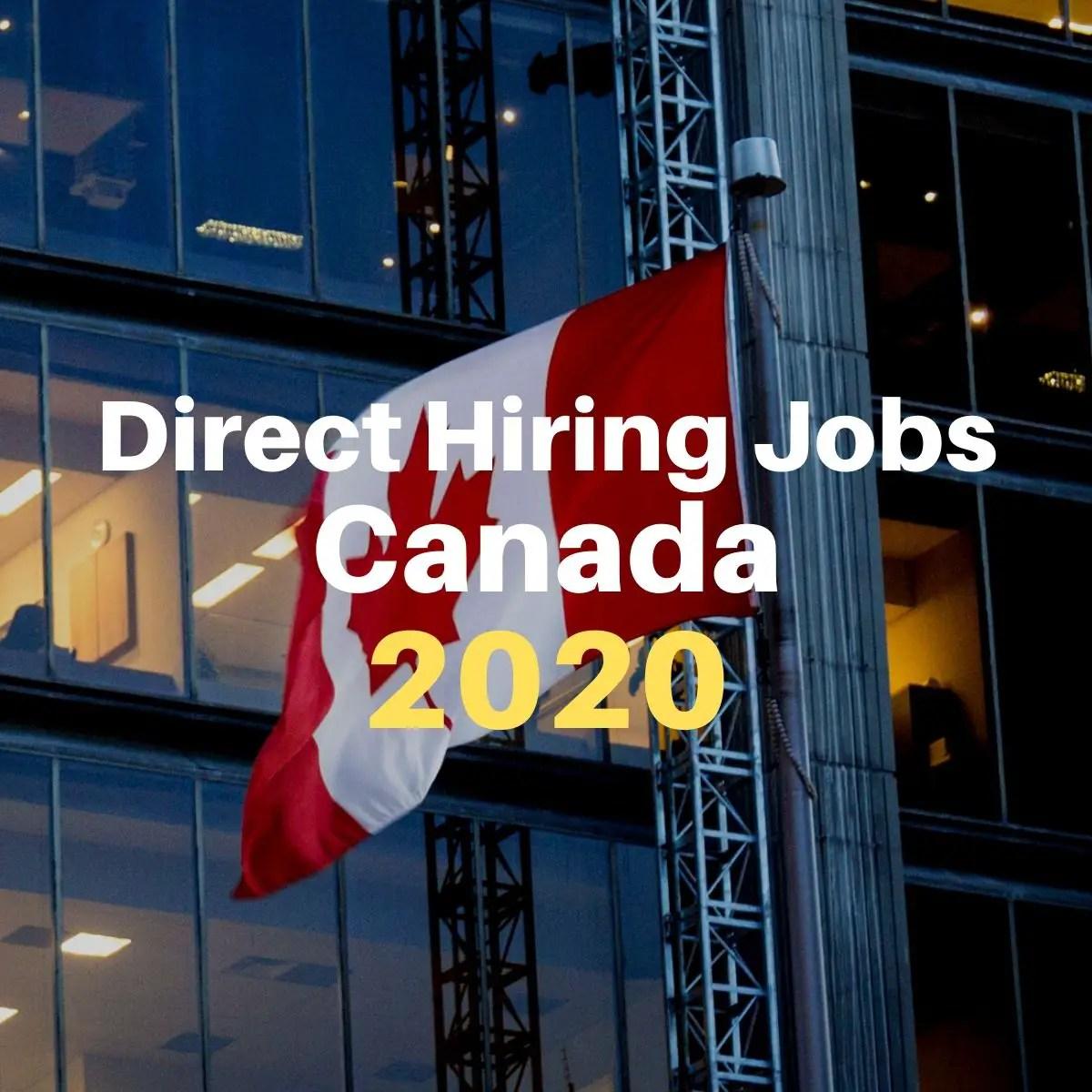 direct hiring jobs canada 2020
