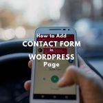 how to add contact form wordpress using jetpack
