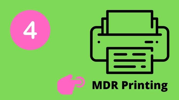 print mdr online