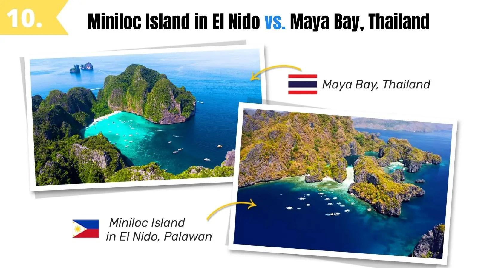 miniloc island el nido palawan vs maya bay thailand