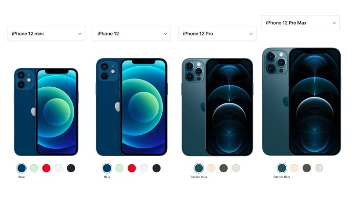 iphone 12 vs iphone 12 mini vs iphone 12 pro vs iphone 12 pro max