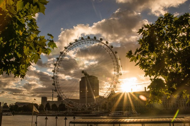 London Eye at day break