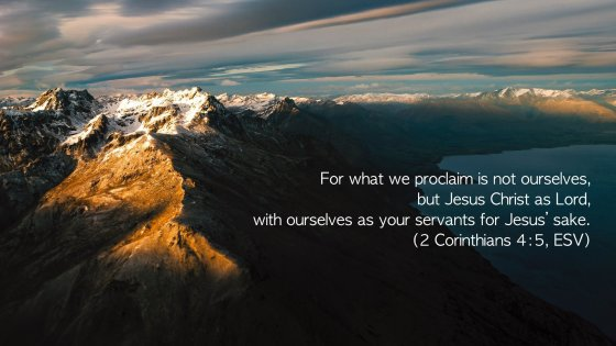 Verse of the Week: 2 Corinthians 4:5