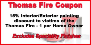 Thomas Fire Coupon Ventura County Painting Contractor