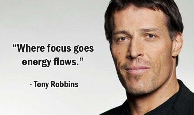 Tony Robbins Focus Quote