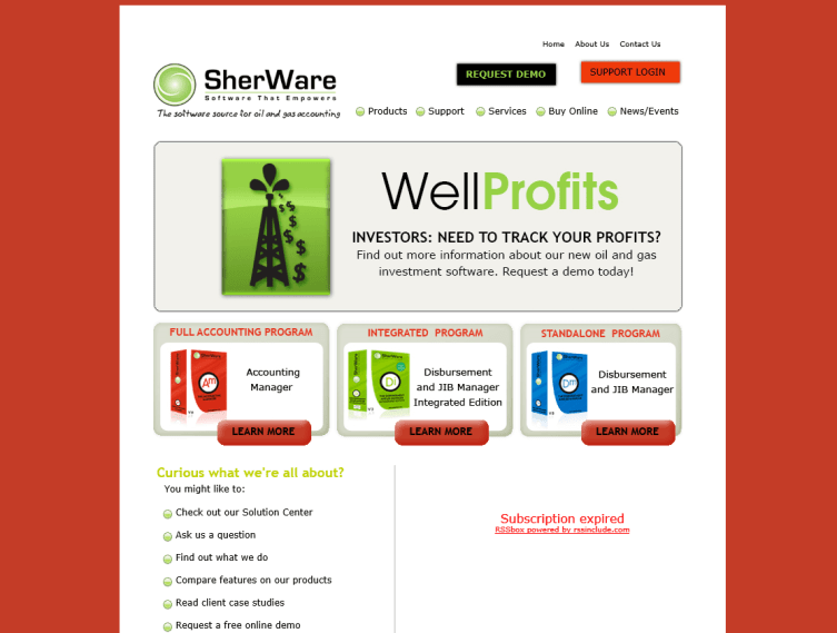 SherWare Website 2010