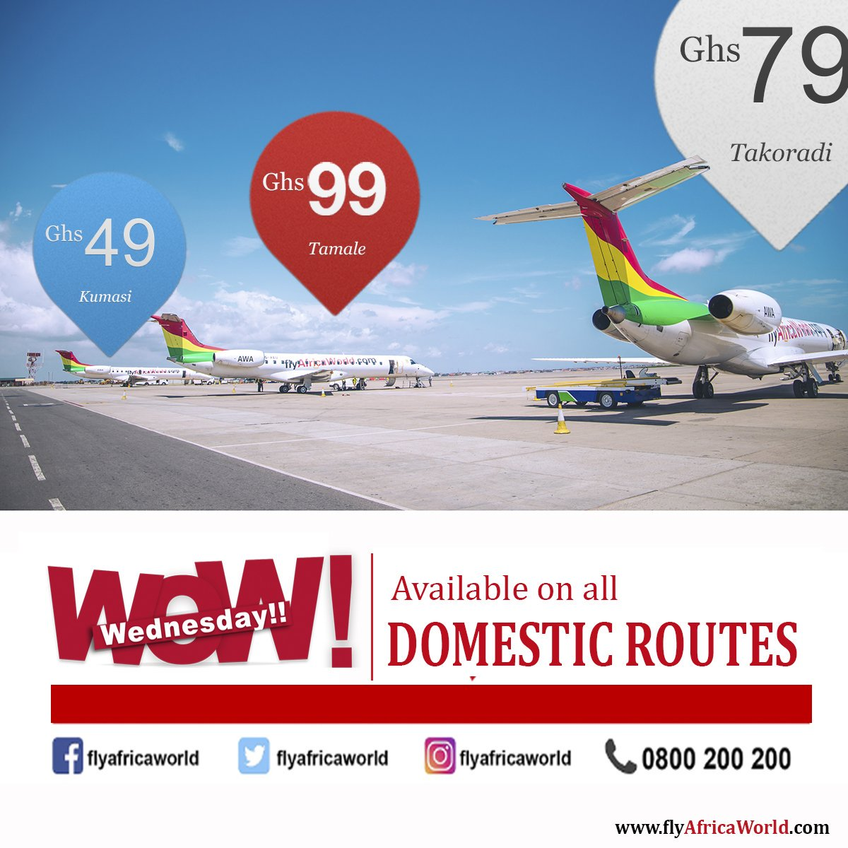 Africa World Airlines launched WOW Promo! again