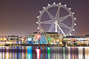 The Southernstar Ferris Wheel in 2008 a day before it first opened to the public. Photo courtesy: http://melbourne.metblogs.com