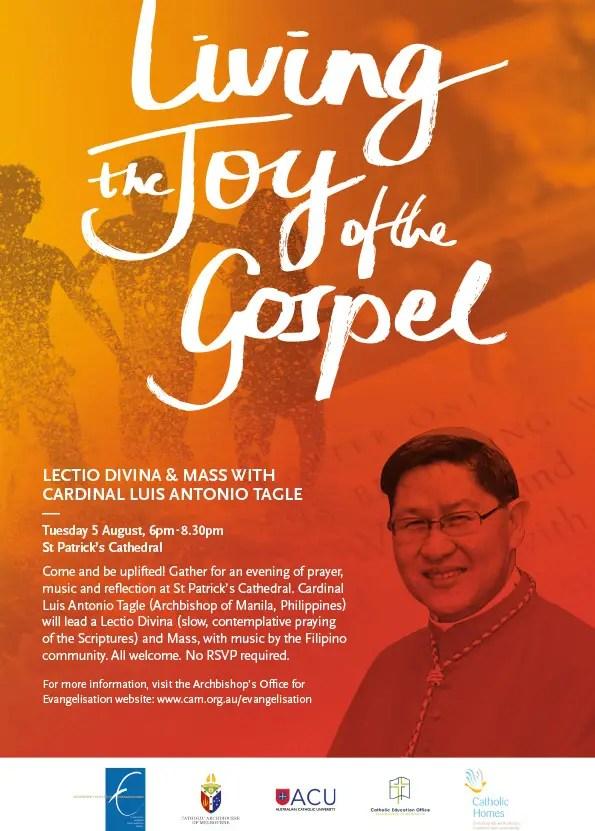 Lectio Divina and Mass w Cardinal Tagle