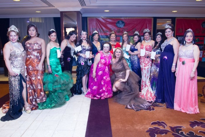 Finalists of the Belle of the Ball with Norma Santos