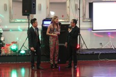 Melbourne-based singer Sheralyn May Hill with Ryan and Chito