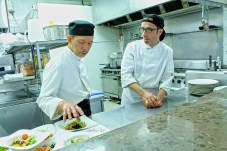 Chef Rey Aban and staff