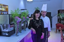 Chef Rey Aban with wife, Dory Aban