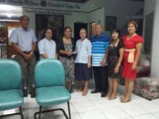IAVI hands over its annual donation to Asilo de Molo in Iloilo City.