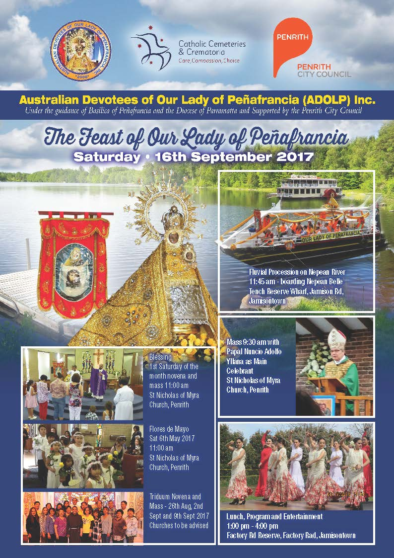Feast of Our Lady of Peñafrancia 2017 in Penrith NSW