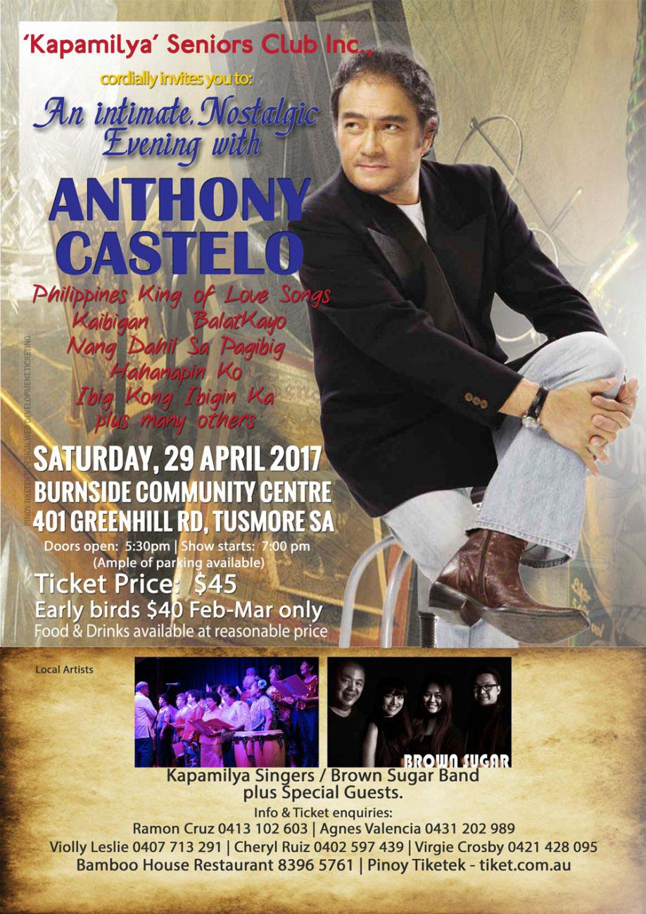 Anthony Castelo Concert - Adelaide