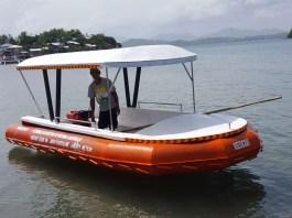 2 Rescue Boats donated to Small Fisherman Folks of Bayas & Manipulon Islands, Estancia, Iloilo